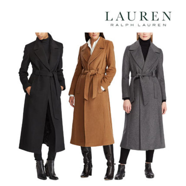 Ralph Lauren◆ Belted Wool Blend Coat ウールコート