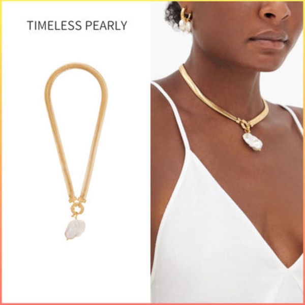 TIMELESS PEARLY ゴールドプレーテッド ペンダントネックレス