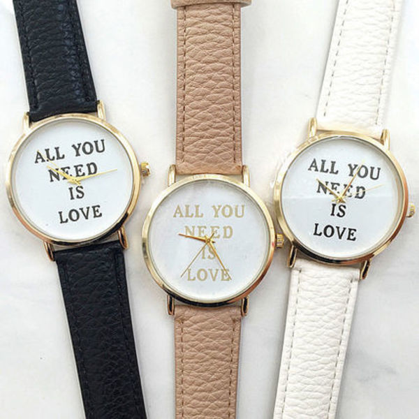 【mode Chic】 ALL YOU NEED IS LOVE リストウォッチ