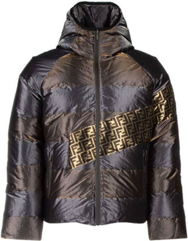 フェンディ☆TWO-TONE POLYESTER REVERSIBLE DOWN JACKET