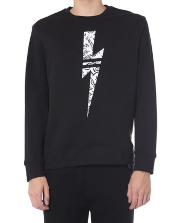 【関税負担】NEIL BARRETT LIGHTNING SWEATSHIRT