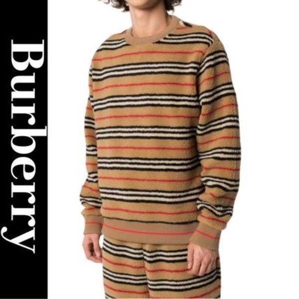 Burberry Icon Stripe Fleece Sweatshirt