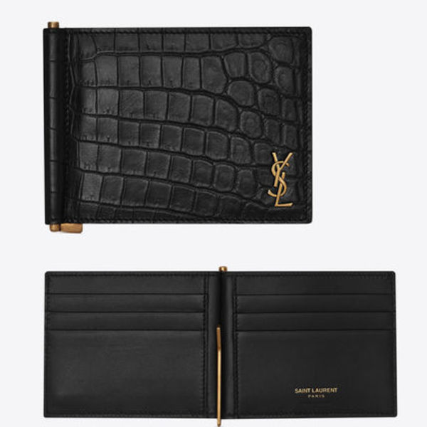 関税負担なし☆Saint Laurent Tiny monogram bill clip wallet