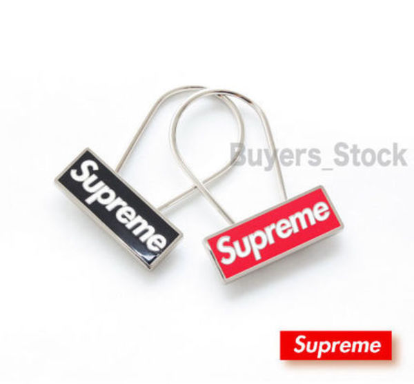 [送料無料]15AW Supreme Box Logo Clip Keychain Red/Black