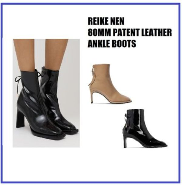 [REIKE NEN] 80MM PATENT LEATHER ANKLE BOOTS (送料関税込み)