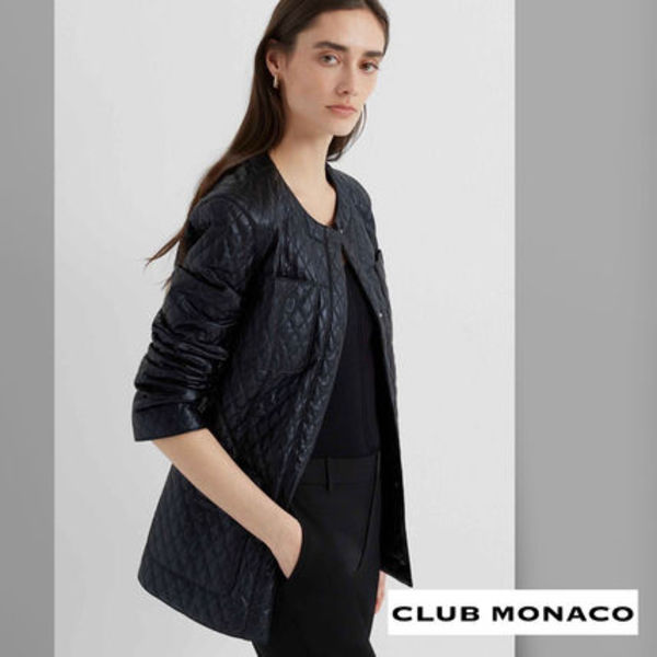 【CLUB MONACO】Glossy Quilted Jacket ★2020 S/S★セール価格