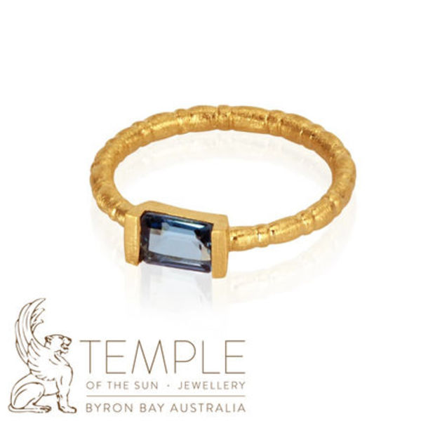 AU発日本未入荷★TEMPLE OF THE SUN PIA RING TOPAZ GOLD リング