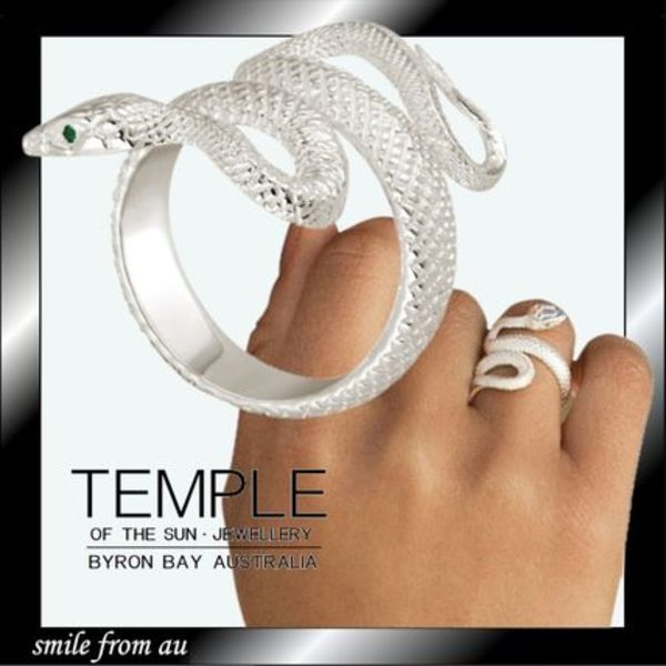 AUバイロンベイ発【TEMPLE OF THE SUN】SERPENT RING SILVER☆彡