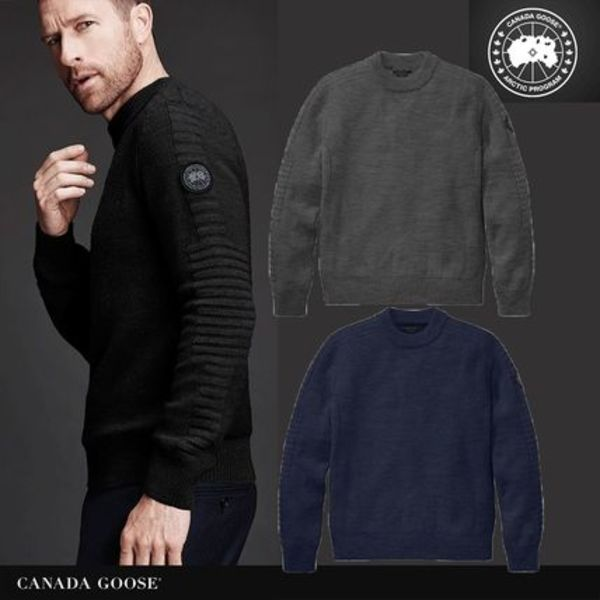 CANADA GOOSE*PATERSON SWEATER BLACK LABEL*メンズセーター
