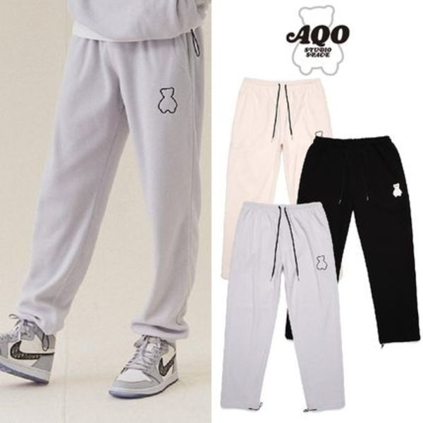 [AQOSTUDIO] AQO BEAR FLEECE PANTS 3COLOR 送料無料