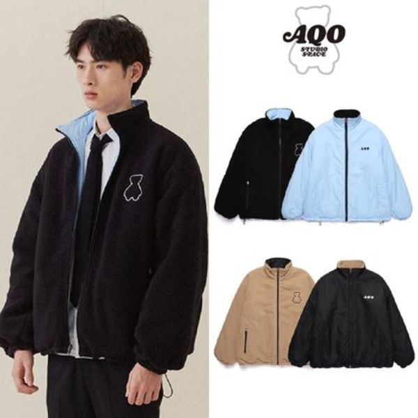 [AQOSTUDIO] AQOBEAR REVERSIBLE FLEECE JACKET 2COLOR 送料無料