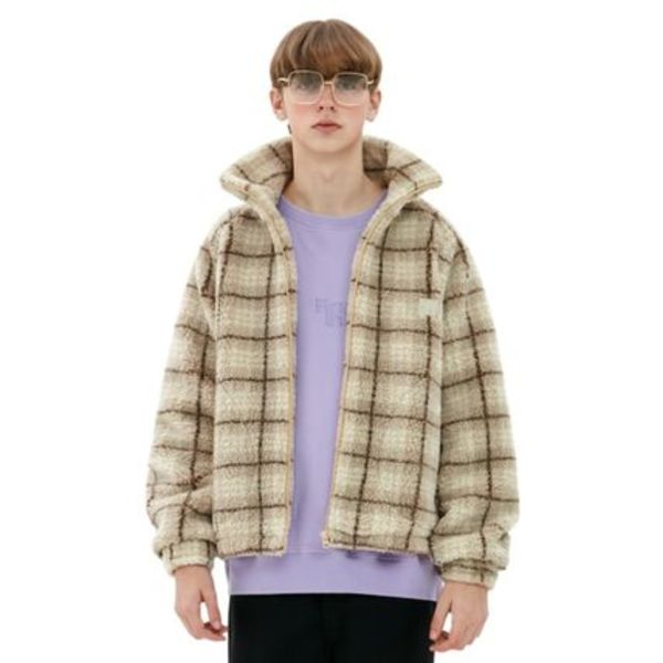 ●Fine The● 20FW Check Searing Jacket フリース 2カラー