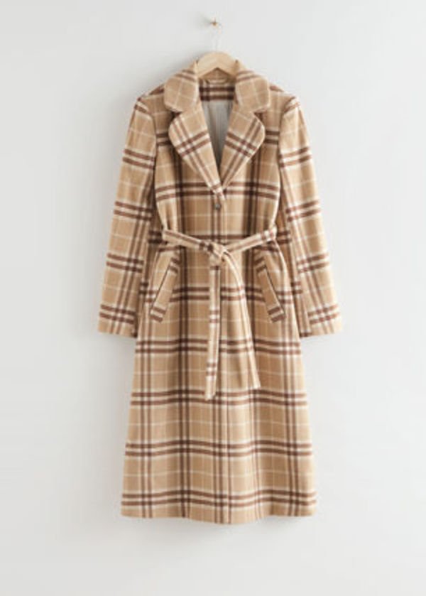 & Other Stories新作☆Belted Wool Blend Coat