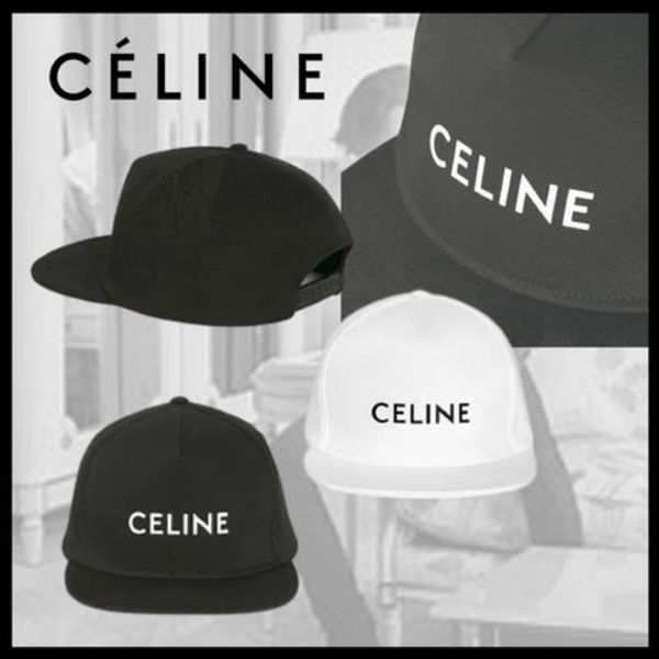 【CELINE】20AW新作 ロゴ入りコットンキャップ