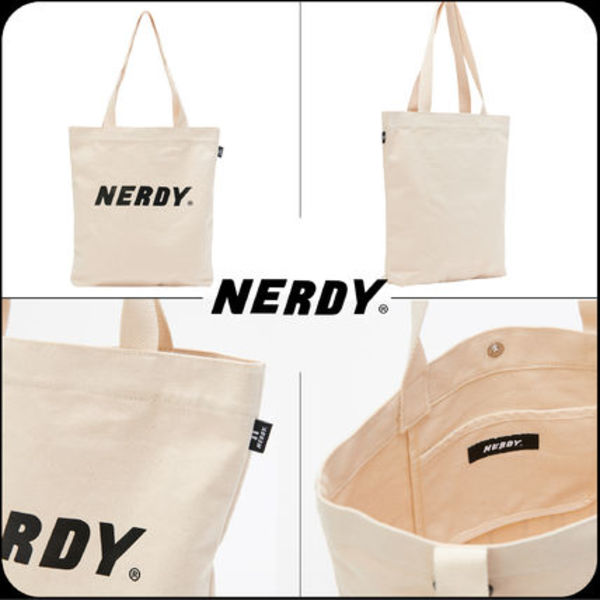 [ NERDY ]★韓国大人気★Basic Logo Eco Bag