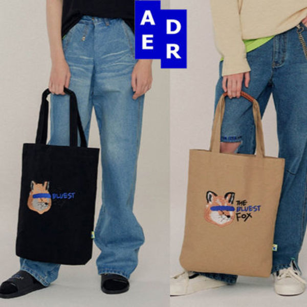 ★ADERERROR X MAISON KITSUNE★FOX HEAD TOTE BAG