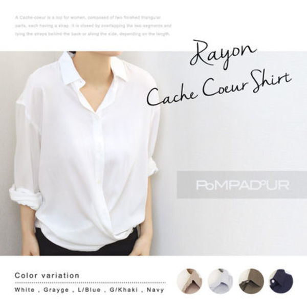 【Pompadour】Rayon Cachecoer Shirt レーヨン シャツ