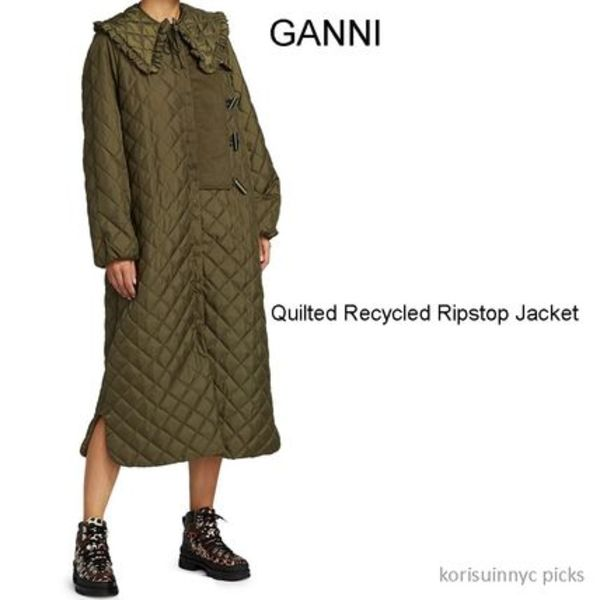 CUTE*GANNI*Quilted Recycled Ripstop Jacket & Collar