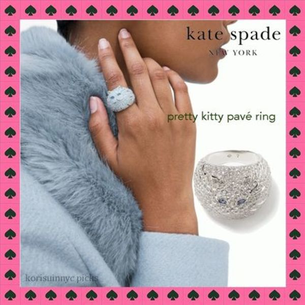 CAT LOVER* Kate Spade *pretty kitty パヴェリング