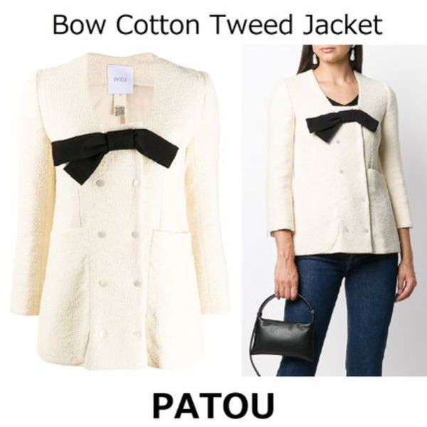 △国内発送・関税込△PATOU△Bow Cotton Tweed Jacket