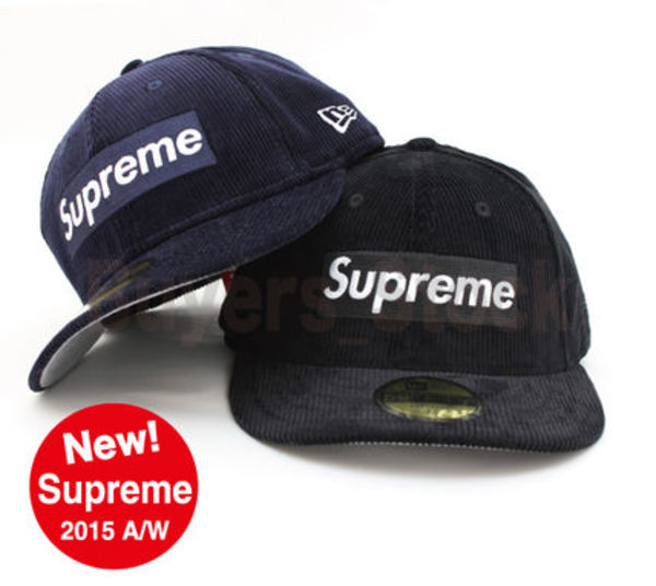 [15 A/W] 国内発送 Supreme Corduroy Box Logo New Era 各サイズ
