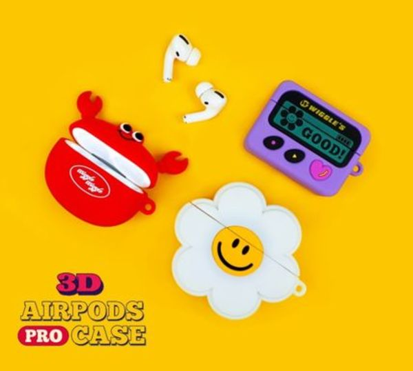 【WIGGLEWIGGLE】3D airpods pro ケース 3types