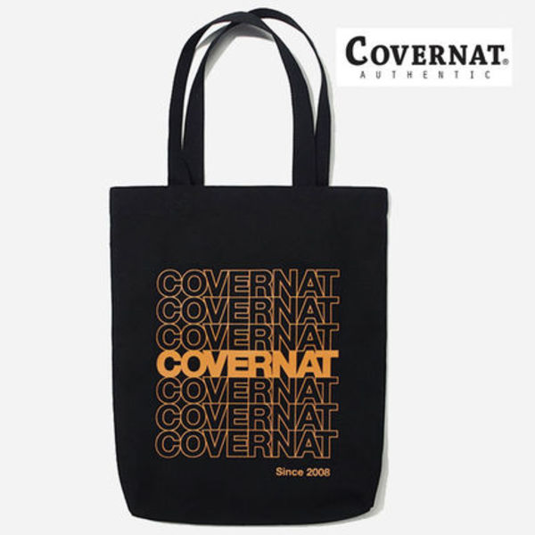 ★COVERNAT★ C1901EC03BK REPEAT LOGO ECO BAG エコバック