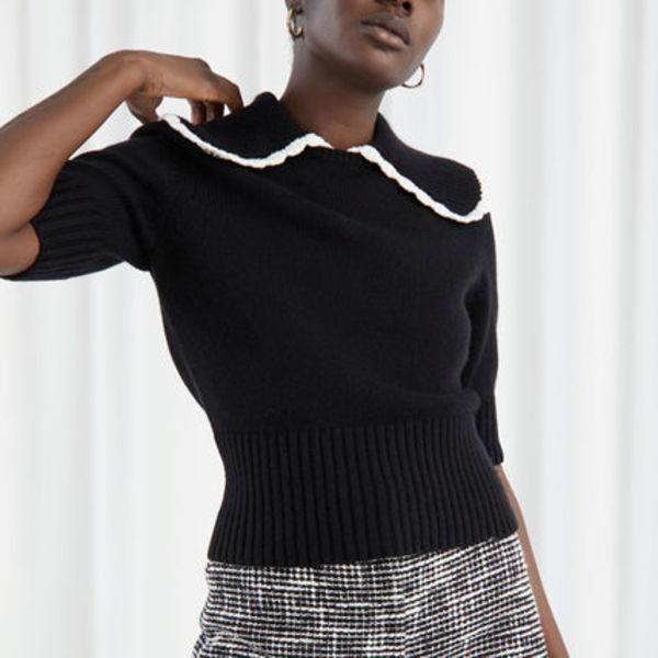 &other stories Wide Collar Wool Knit Sweater