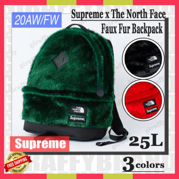 【20AW/FW】SUPREME x The North Face Faux Fur Backpack