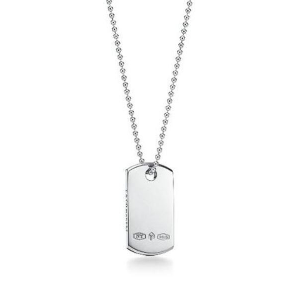 【日本よりお得】Tiffany1837 Makers ID Tag Pendant Silver