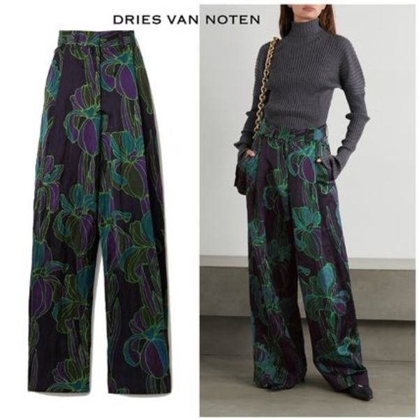 ∞∞ Dries Van Noten ∞∞ Floral-print woven wide-leg パンツ