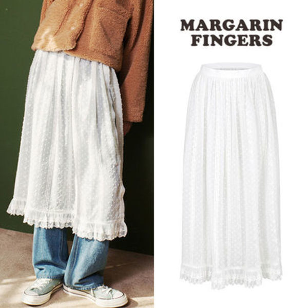 ★Margarin Fingers★新作★送料込み 韓国 人気 lace wrap skirt