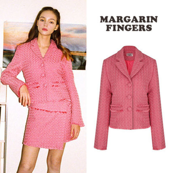 ★Margarin Fingers★新作★送料込み★韓国 candy tweed jacket