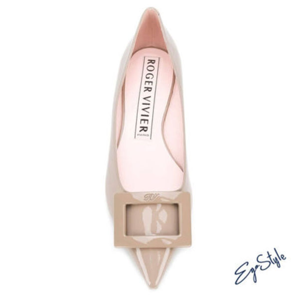 GOMMETTINE LEATHER PUMPS