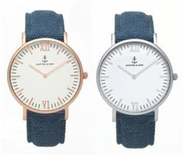 【Kapten & Son】Campus Blue Canvas【Gold &Silver】