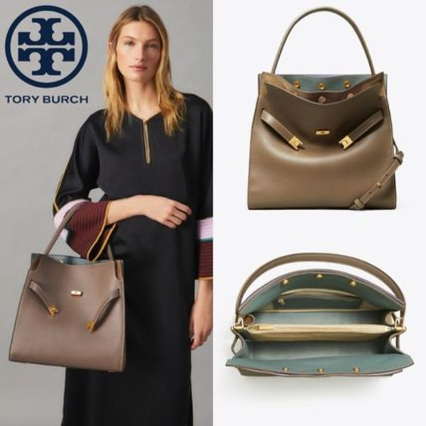 人気Toryburch Lee Radziwill Double Bag / Clam shell