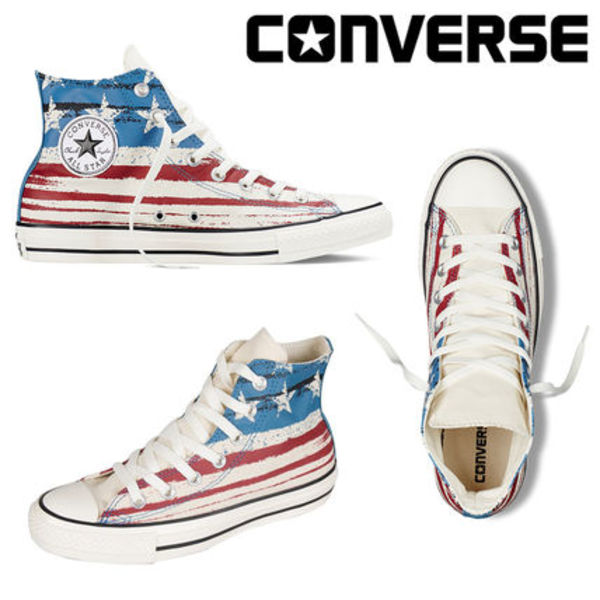 最新2015/16秋冬☆今話題のChuck Taylor All Star US Flag Print