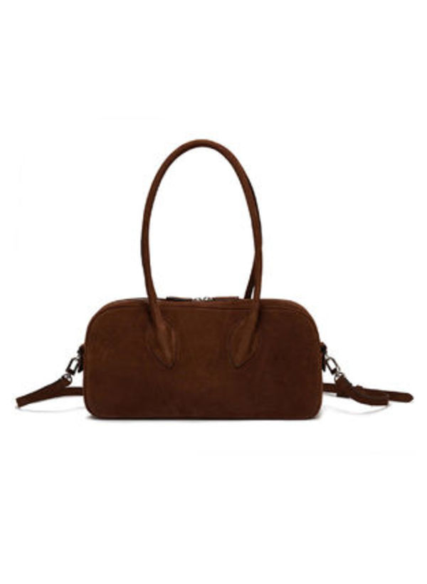 [TheOpen Product]☆SUEDE BOWLING LEATHER HANDBAG☆日本未入荷