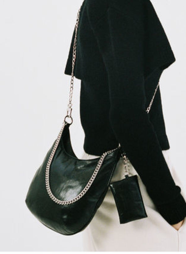 [TheOpen Product]PUFF CHAIN BAG, BLACK☆