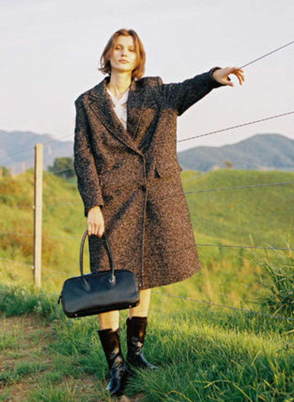 [TheOpen Product]DOUBLE-BREASTED WOOL COAT BLACK☆日本未入荷