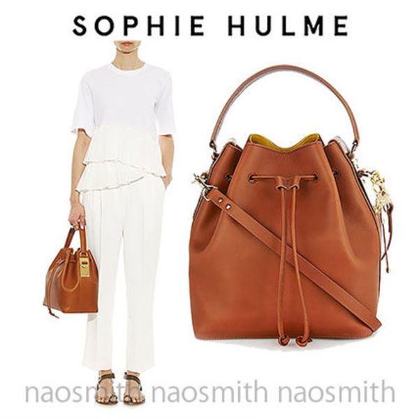 ★鈴木えみ愛用★SOPHIE HULME Drawstring leather bucket bag