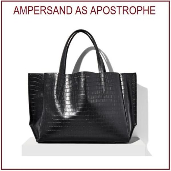 ★Ampersand As Apostrophe★ Sideways Tote クロコトート