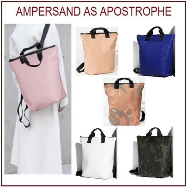 ★Ampersand As Apostrophe★ バックパックトートバッグ