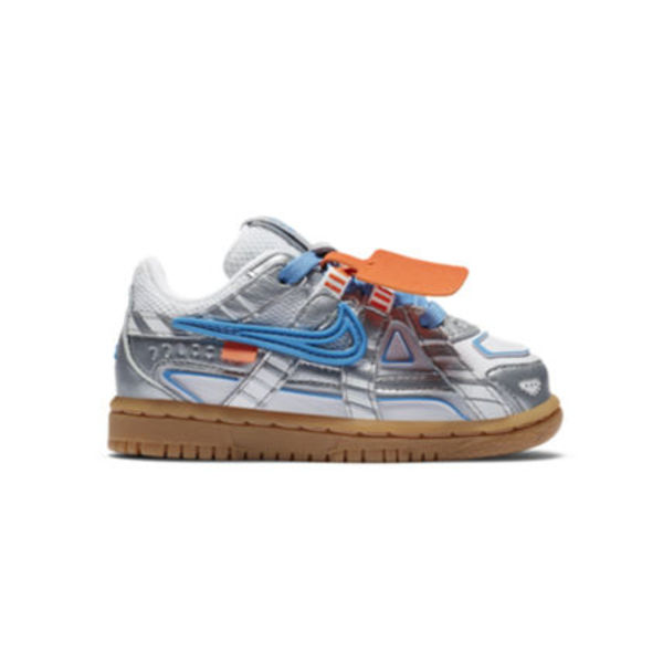 FW20 NIKE AIR RUBBER DUNK OFF WHITE UNC SILVER TD 8-16cm