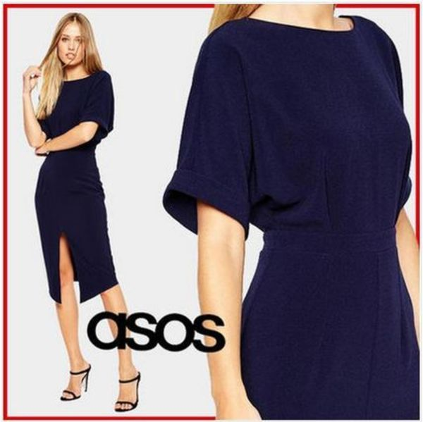 2015*AW*Wiggle Dress with Split Front スリットドレス★ASOS★