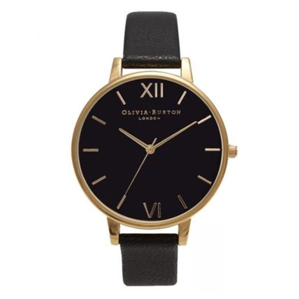 【送料関税込】Olivia Burton BLACK DIAL WATCH