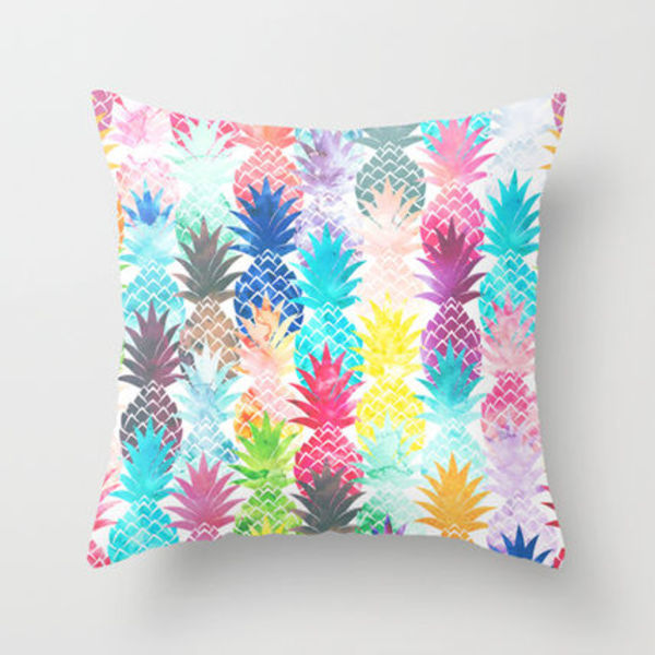 Society6★クッションカバー★Hawaiian Pineapple Pattern Tropi