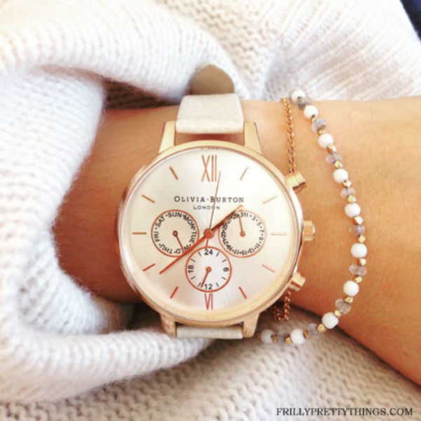 【送料関税込】Olivia Burton Chrono MINK and ROSE GOLD