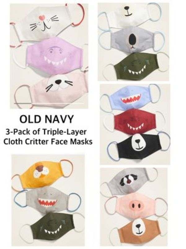 〈Old Navy〉★キッズサイズ★Triple-Layer Cloth Face Masks