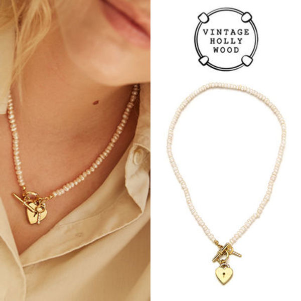 ★TWICE ナヨン愛用★送料込み Open Your Heart Pearl Necklace